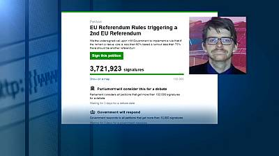 Massive British referendum petition hijacked