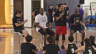 Kobe Bryant trains young basketballers in Taiwan