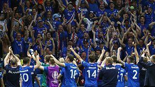 """Islands Fans feiern in Nizza: """"Die Wikinger sind zurück"""""""