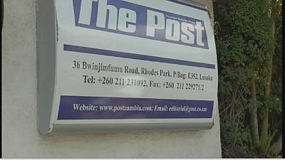 Zambie: fermeture du journal The Post