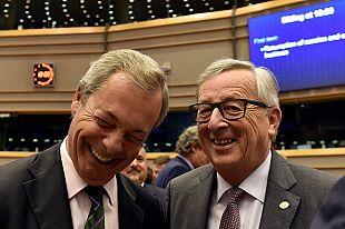 Juncker and Farage share banter after Brexit