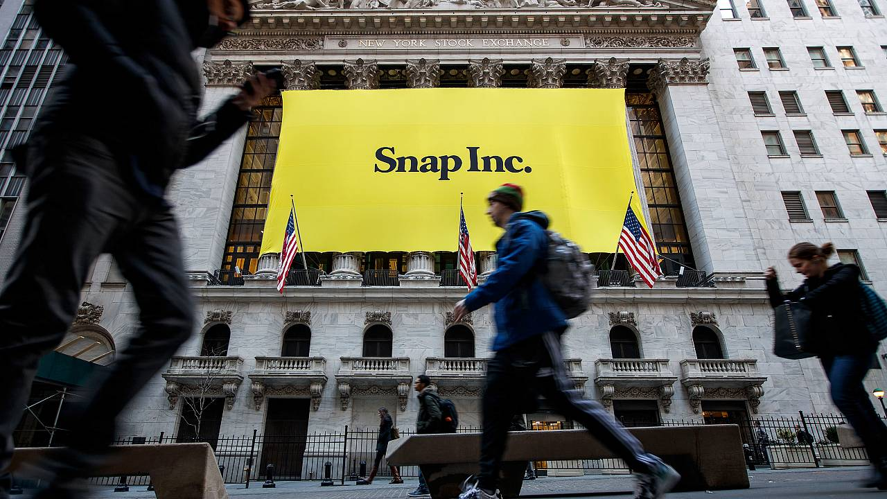 Image: Signage for Snap Inc., parent company of Snapchat