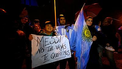 Argentina fans beg Lionel Messi not to retire