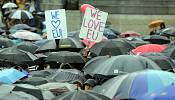 Anti Brexit voters march in favour of a referendum re-run