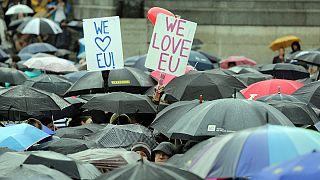 مظاهرة حاشدة في لندن ضد الخروج من الاتحاد الأوروبي
