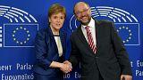 Martin Schulz fogadta a skót kormányfőt