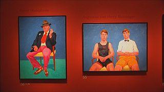 Los retratos de Hockney expuestos en la Royal Academy of Arts de Londres