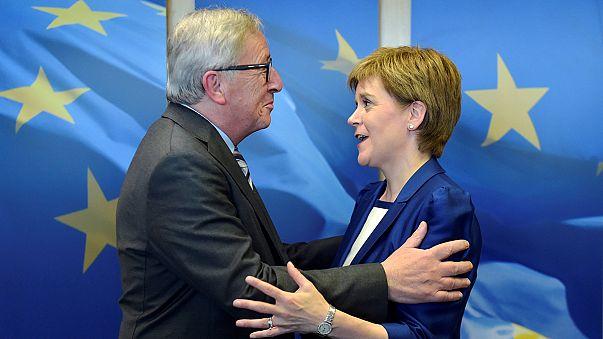 """Brexit: la PM écossaise """"encouragée"""" par ses rencontres à Bruxelles"""