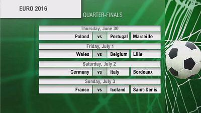 Euro 2016 : le tableau des quarts de finale