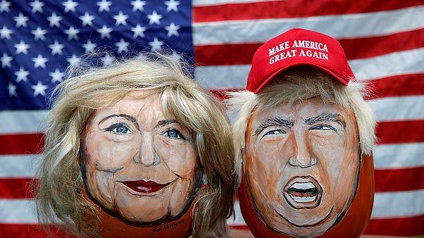 Umfrage: Clinton und Trump Kopf an Kopf