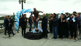 Argentine : une statue pour Messi à Buenos Aires