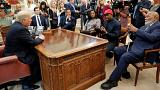 Image: U.S. President Trump meets with rapper West and NFL Hall of Famer Br