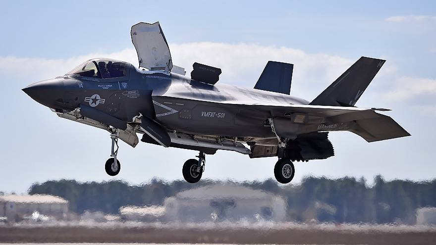 Image: FILE: F-35 U.S. Military Plane Crashes In South Carolina The F-35 Li