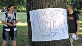 Minden fára más plakátot tettek a Ligetvédők