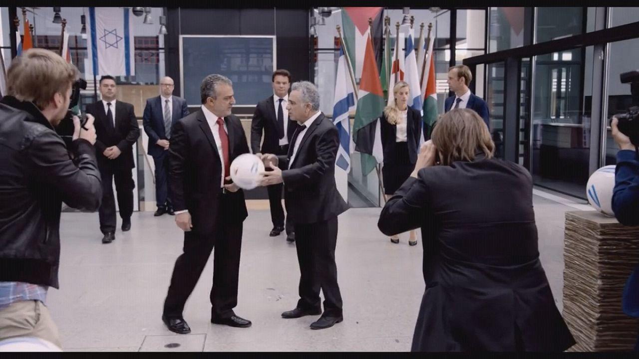 مسابقه فوتبال بین اسرائیل و فلسطین، دستمایه یک فیلم کمدی