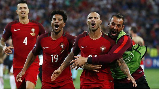Euro 2016: İlk yarı finalist Portekiz