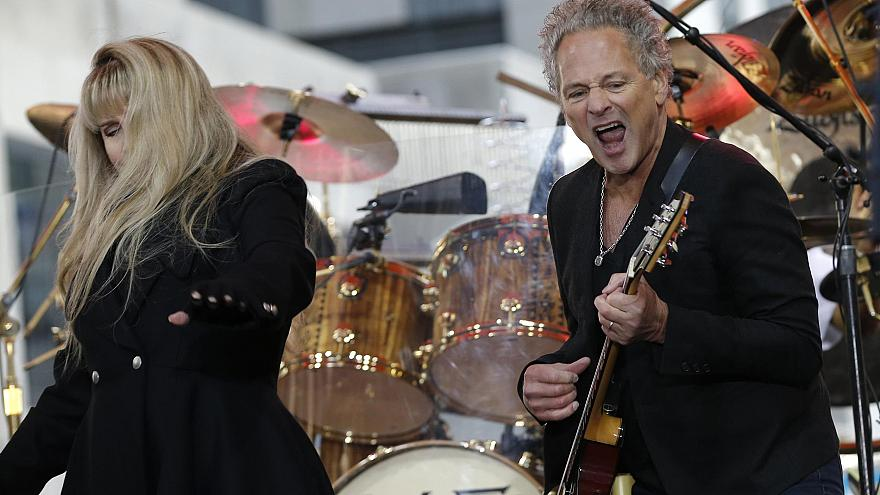 Image: Members of the rock band Fleetwood Mac Lindsey Buckingham and Stevie