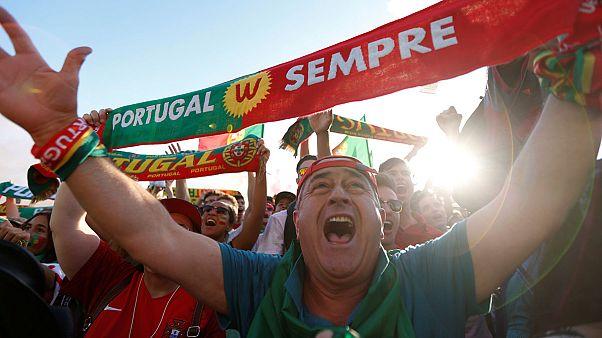 Πανηγυρισμοί στην Λισαβόνα μετά την νίκη της εθνικής ποδοσφαίρου
