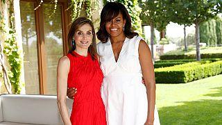 ميشال اوباما وملكة اسبانيا