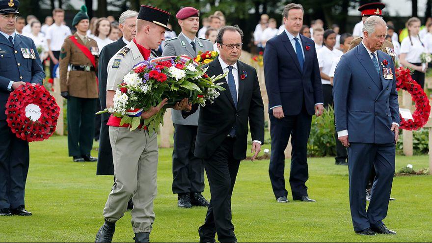 Franceses y británicos celebran los 100 años del inicio de la batalla del Somme, la más sangrienta de la I GM