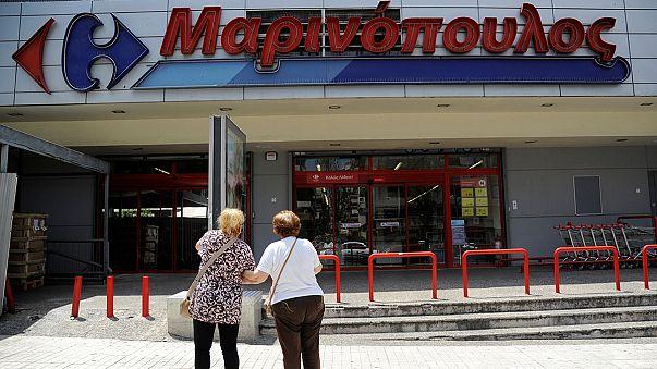 Csődvédelmet kapott Görögország egyik legnagyobb szupermarket-láncolata