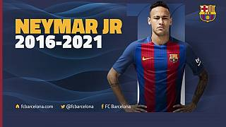 Neymar signs five-year contract extension with Barcelona
