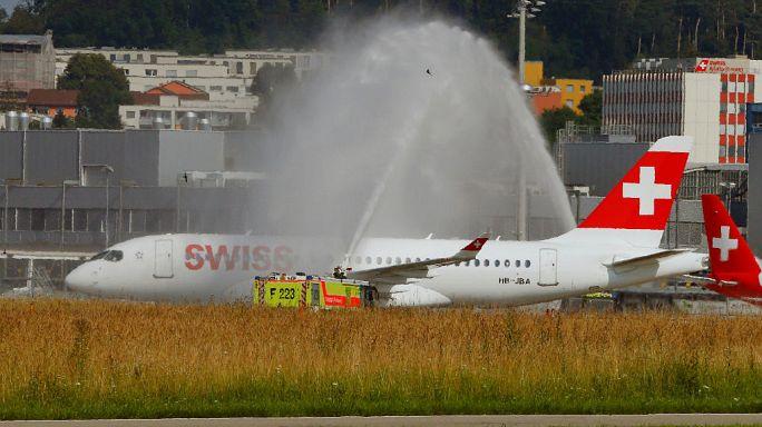 Swiss feiert neuen Bombardier CS100