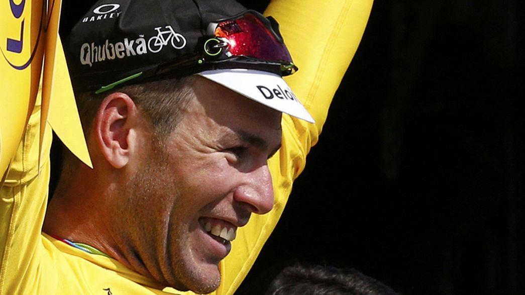 Tour de France: Cavendish trionfo e maglia gialla, Contador cade