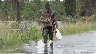Heavy flooding in Liberia paralyzes transport in the capital