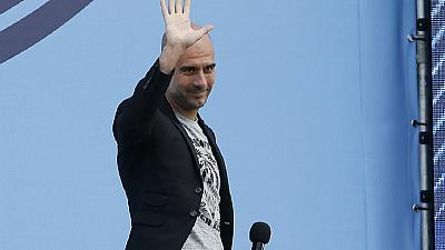 Guardiola presented to Manchester City fans