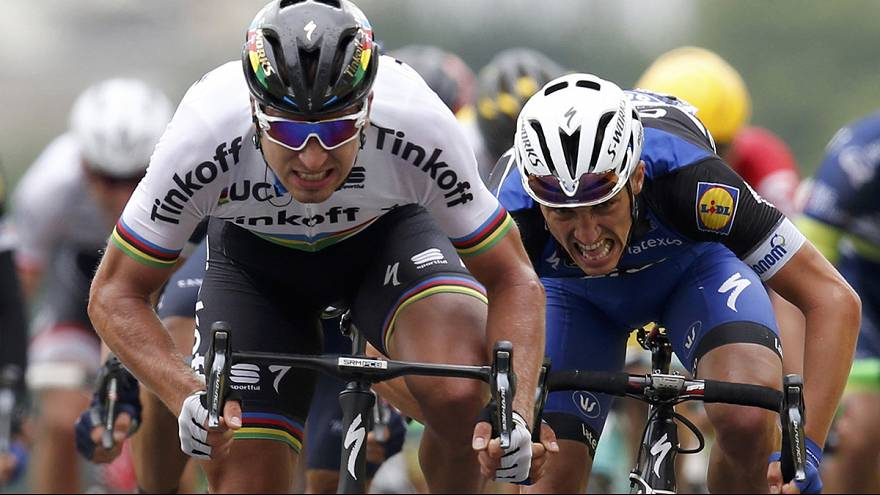 Tour de France: Sagan dons yellow after sprinting to stage two victory