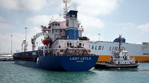 Турецкое судно с помощью для Газы прибыло в порт Израиля