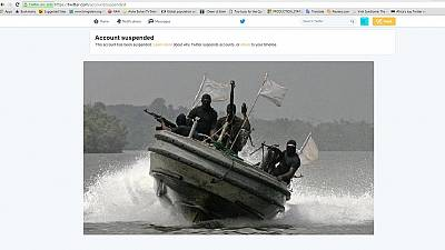 Twitter suspends Niger Delta Avengers account