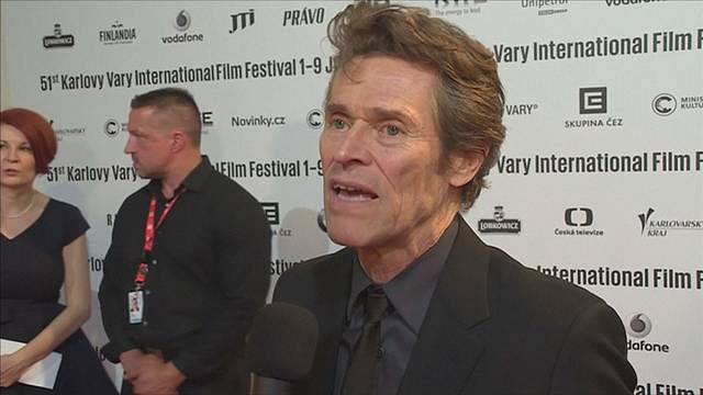 Willem Dafoe homenageado no Festival Internacional de Cinema de Karlovy Vary