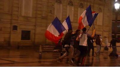 La France célèbre les bleus