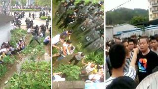 Una veintena de detenidos en una protesta contra la construcción de una incineradora en el sur de China