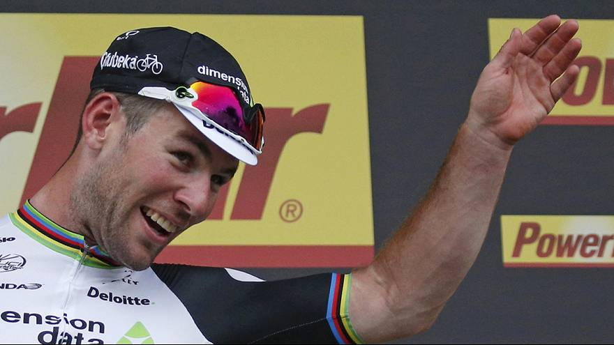 Tour de France: Cavendish wins stage three in photo finish