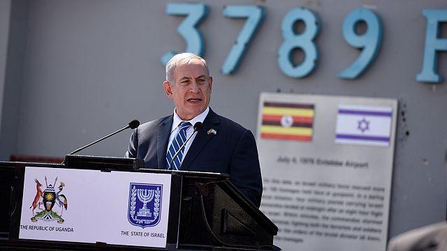 Netanyahu Entebbe Operasyonu'nun 40. yıl dönümünde Uganda'da