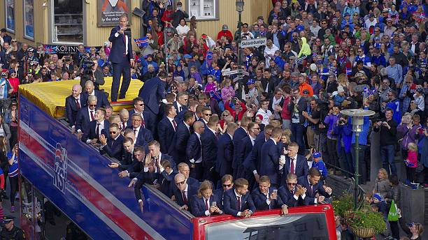 Iceland's football team arrives back home to hero's welcome