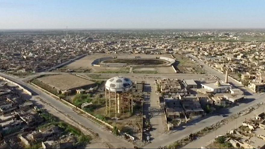 تصاویری هوایی از ویرانه های شهر رمادی