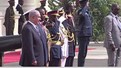 Israeli PM Netanyahu begins his official state visit in Kenya