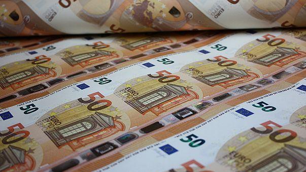 ورقة نقدية جديدة من فئة خمسين يورو....