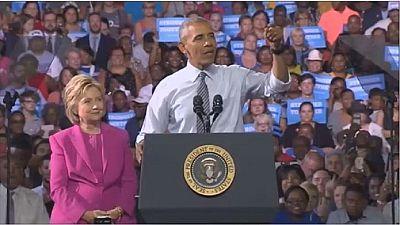 Barack Obama supporte Hillary Clinton