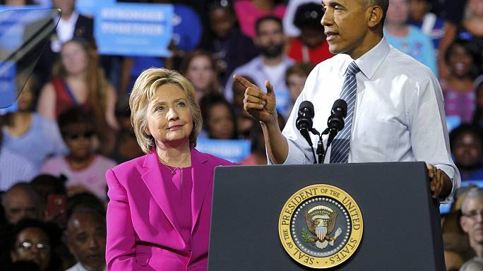 Obama campaigns with Clinton after FBI rule out criminal charges over 'emailgate'