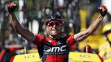 Greg Van Avermaet solos to victory in the Massif Central in the Tour de France