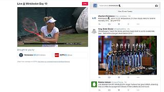 Los partidos de Wimbledon, ahora en twitter