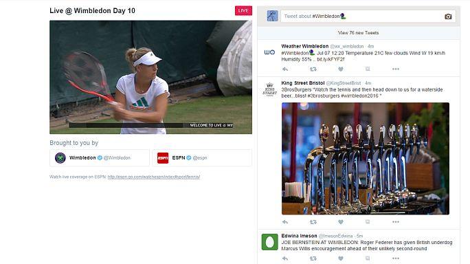 Assista em direto ao Torneio de ténis de Wimbledon pelo Twitter. Nós explicamos-lhe como