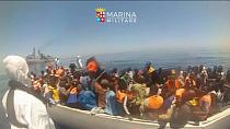 Migrants and Refugees rescued off Italy coast