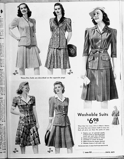 The latest fashions appeared in the Sears & Roebuck catalogue.