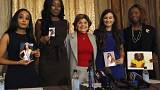 Image: Kimberly Phillips, Crissy Timpson, Gloria Allred, Brandy Palacios, J